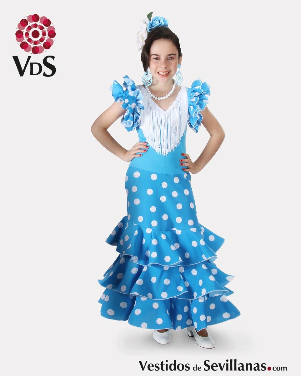 8486054f20 -Traje de Flamenca Largo para bebé y niña CÓRDOBA