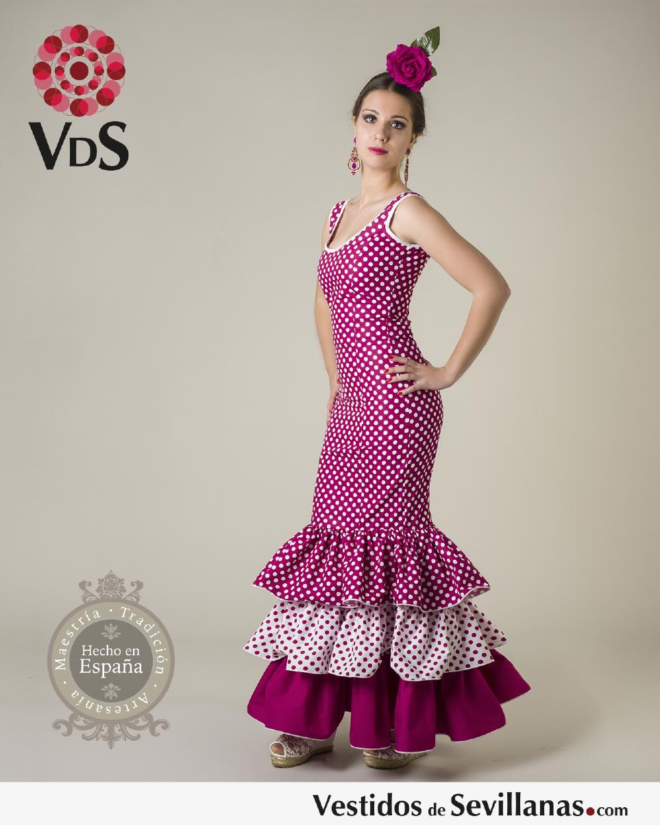 Traje de Flamenca para mujer MÁLAGA (Largo)
