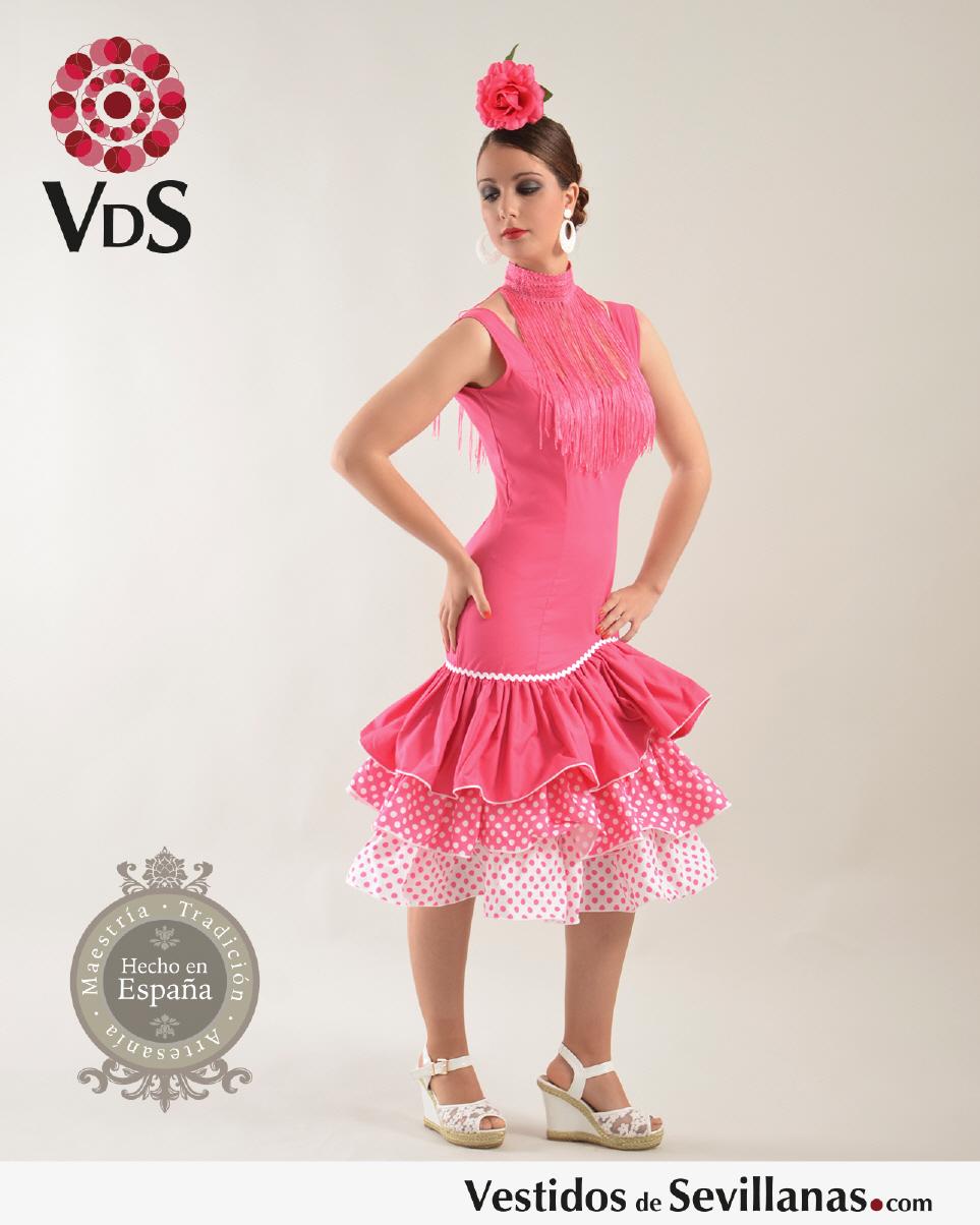 Traje de Flamenca para mujer Mod.Málaga corto