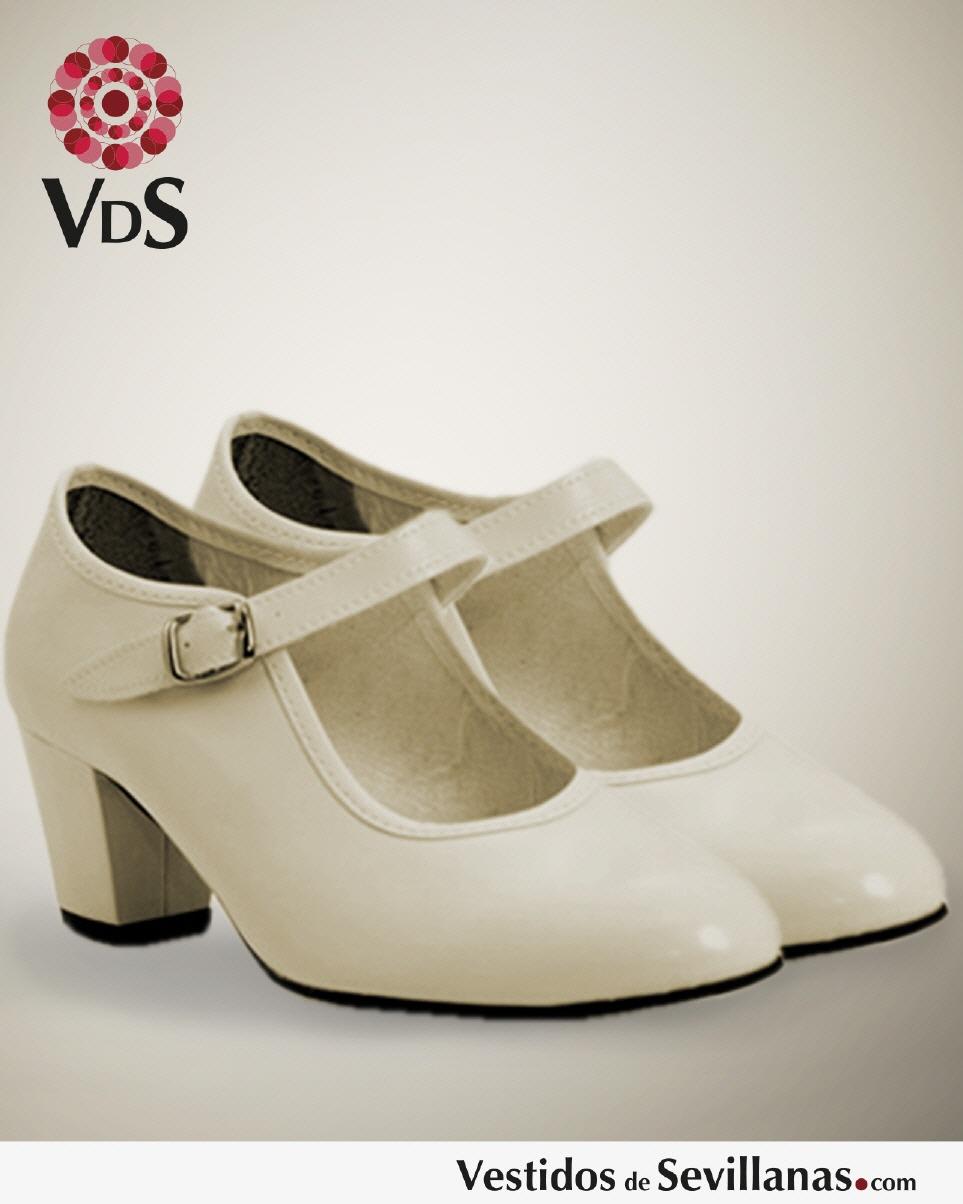 ffa34d33a Zapato baile Flamenco para Mujer- Color Beige